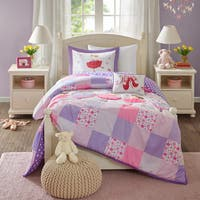 Mi Zone Kids' Dancing Duchess Purple Comforter Set