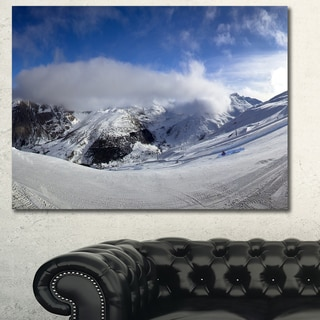 Designart 'Winter in Alps Panorama' Modern Landscpae Wall Art