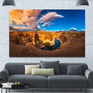 Designart 'Reflection Canyon Lake Powell' Landscape Canvas Wall Artwork
