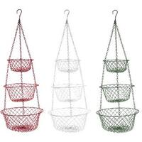 Hanging 3-tier Metal Fruit and Vegetable Basket