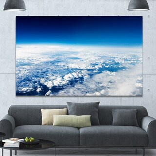 Designart 'Stunning View from Airplane' Landscape Wall Artwork - Multi-color