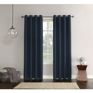 Sun Zero Gilby Woven Texture Energy Efficient Curtain Panel
