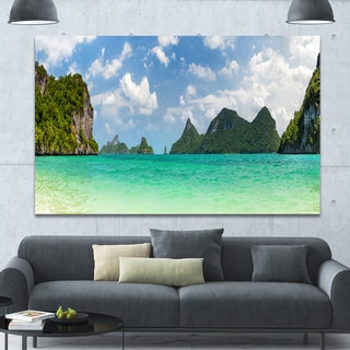 Designart 'Thailand Beach Panorama' Landscape Wall Artwork