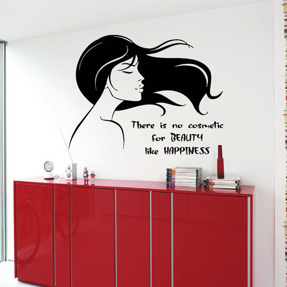Shop Beauty Cosmetic Happiness Woman Wall Words Beauty Salon Wall ...