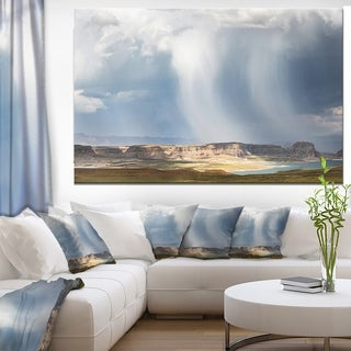 Designart 'Lake Powell under Clouds' Landscape Wall Artwork - White