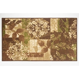 Modern Living Leaves Decorative Accent Rug - 26 x 45 in.
