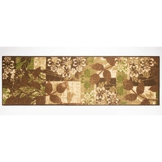 Modern Living Leaves Decorative Accent Rug - 20 x 60 in.
