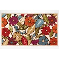 Modern Living Flowers Decorative Accent Rug - 26 x 45 in.