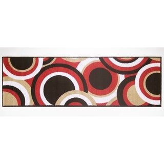"Modern Living Circles Decorative Accent Rug - 1'6"" x 5'"