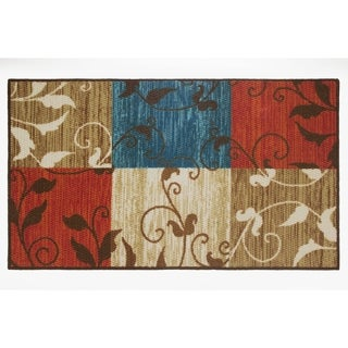 Modern Living Leaf Vine Squares Decorative Accent Rug - 26 x 45 in.
