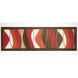 Modern Living Waves Decorative Accent Rug - 20 x 60 in.