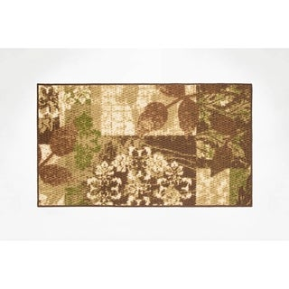 Modern Living Leaves Decorative Accent Rug - 18 x 30 in.