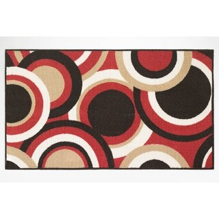 Modern Living Circles Decorative Accent Rug - 26 x 45 in.