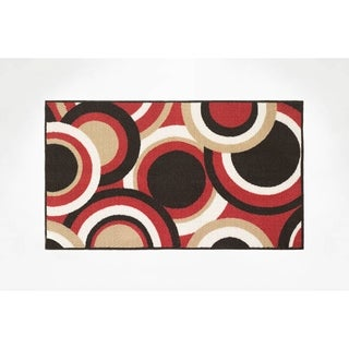 "Modern Living Circles Decorative Accent Rug - 1'5"" x 2'5"""