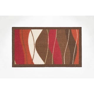 Modern Living Waves Decorative Accent Rug - (18 x 30 in.)