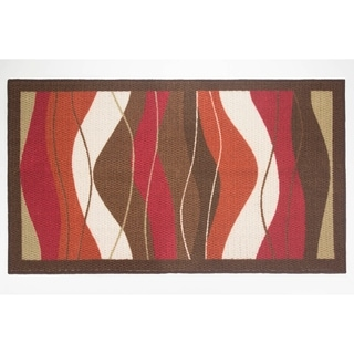 Modern Living Waves Decorative Accent Rug - (26 x 45 in.)