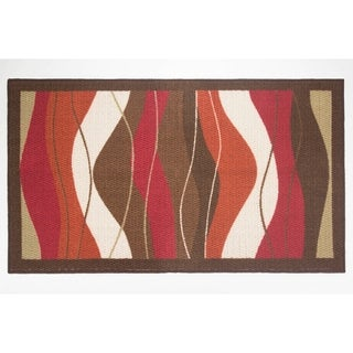 Modern Living Waves Decorative Accent Rug - 26 x 45 in.