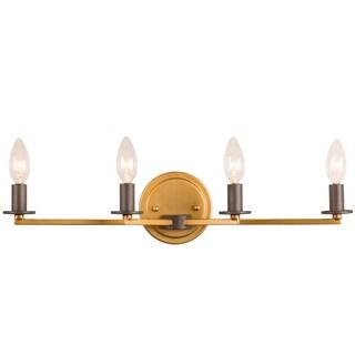 Rogue Décor Elwood 4-light Antique Gold/Rustic Bronze Bath Fixture