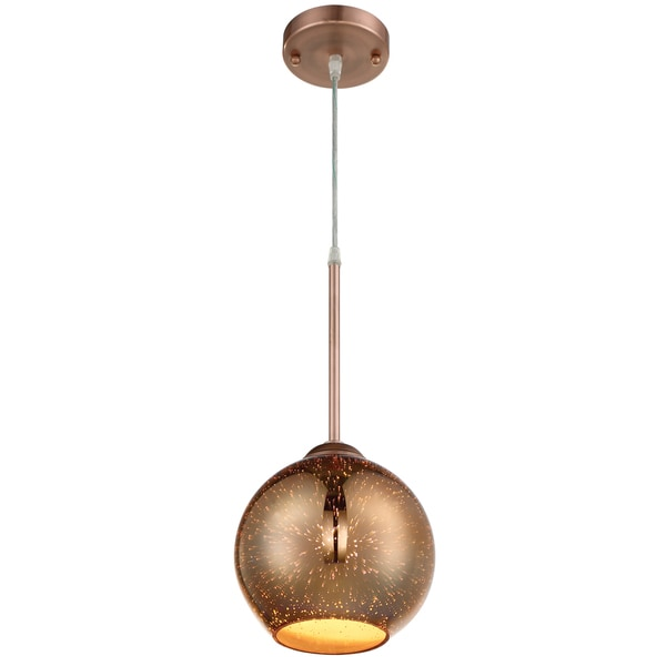 Rogue dcor spacey 68 inch glass copper mini pendant with 3d rogue dcor spacey 68 inch glass copper mini pendant with 3d iridescent optic space glass mozeypictures Image collections