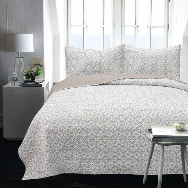 Logan Printed 2-Piece Twin Size Coverlet Set