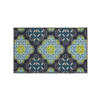 Structures Olivia Textured Printed Accent Rug - 18 x 30 in.