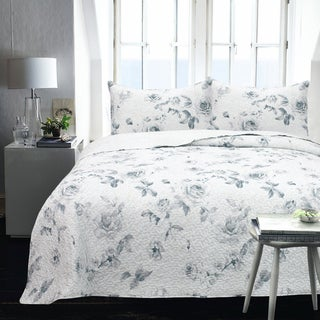 Charline Microfiber Printed 2-piece Coverlet Set
