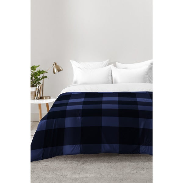 Allyson Johnson Woodsy Blue Plaid Comforter
