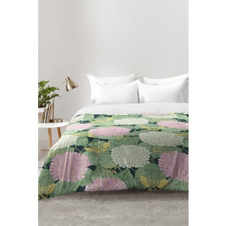 Belle13 Hydrangea and Butterflies Comforter