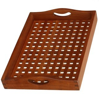 Bare Decor Onsen Natural Teak Wood Spa Tray