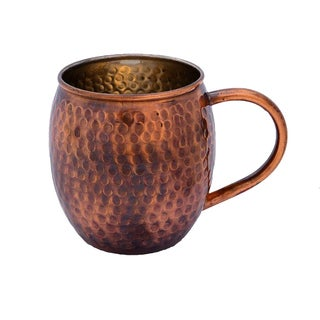 Alchemade Antique Hammered Barrel Shape Copper Mug - 16 oz.