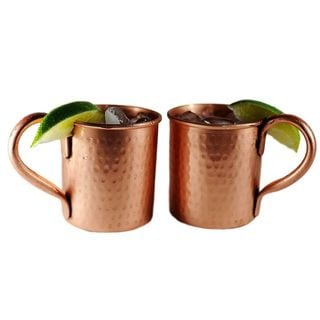 Kauri Pure Copper 14 oz. Hammered Jugs - Set of 2