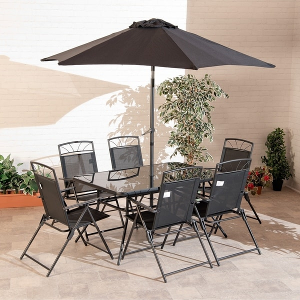 8-piece Memphis Steel Dining Collection Black - Shop 8-piece Memphis Steel Dining Collection Black - Free Shipping