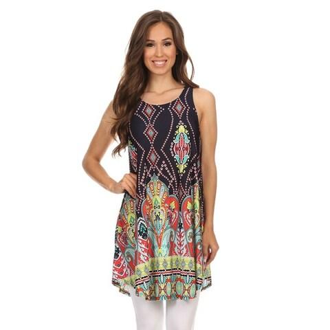 Women's Sleeveless Paisley-patterned Tunic