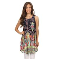 Women's Sleeveless Paisley-patterned Tunic