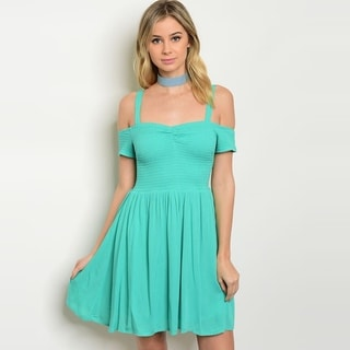 Shop The Trends Women's Off The Shoulder Chiffon Dress With Square Neckline And Fitted Waistline