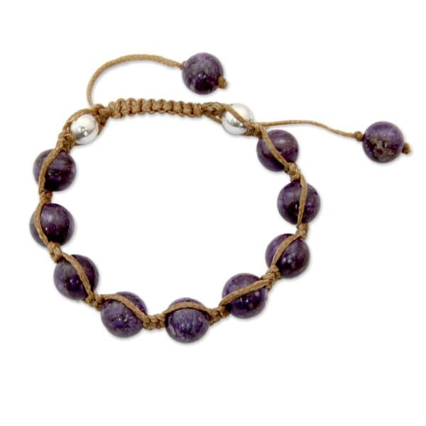 Shop Handmade Charoite Shambhala Style Bracelet Move