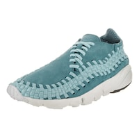 brand new ceff7 c07ea Nike Men s Air Footscape Woven NM Blue Suede Casual Shoes