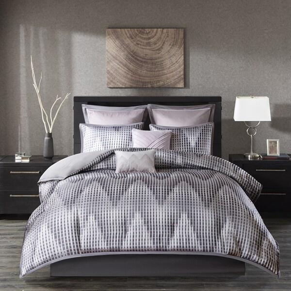 Madison Park Hailey Lavender 8-piece Jacquard Comforter Set