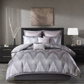Madison Park Hailey Lavender 8-piece Jacquard Comforter Set