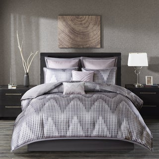 Madison Park Hailey Lavender 8 Piece Jacquard Comforter Set