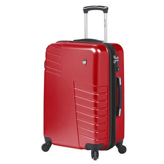 Mia Toro Italy Mondavio Polycarbonate 24-inch Hard-sided Spinner Upright Suitcase