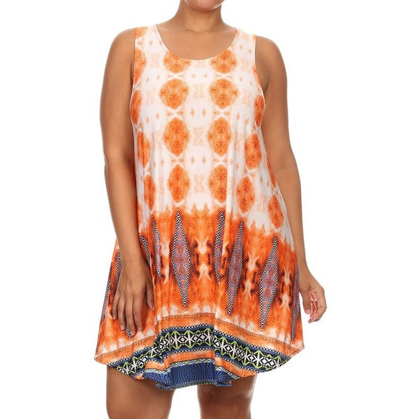 dd98df7549c Shop Women s Orange Plus-Size Sleeveless Tunic - Free Shipping On ...