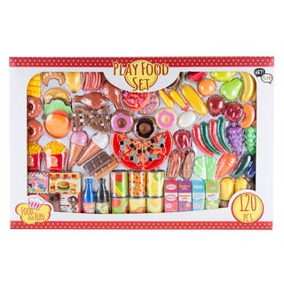 Hey! Play! Pretend Play Assorted Food Set Fresh, Boxed and Canned Food