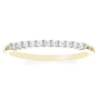 H Star 10k Yellow Gold Cubic Ziconia Wedding Band
