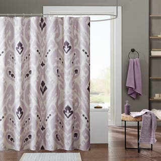 purple and brown shower curtain. INK IVY Sasha Lavender Cotton Printed Shower Curtain Purple Curtains For Less  Overstock com Vibrant Fabric