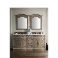 Amalfi Empire Grey Natural Marble Top 72-inch Double Vanity