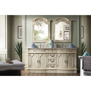 Amalfi 72-inch Natural Marble Top Vintage Vanilla Double Vanity