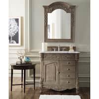 Monte Carlo 36-inch Natural Marble Top Empire Grey Single Vanity