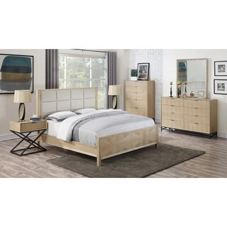 Emerald Home Aden Upholstered Panel Bed Set (2 options available)
