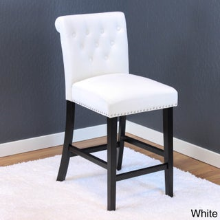 Monsoon Markelo Tufted Velvet Counter Chairs (Set of 2) (Option: White)